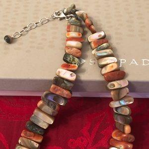 Silpada Jewelry - Silpada Sterling & Red California Abalone Necklace